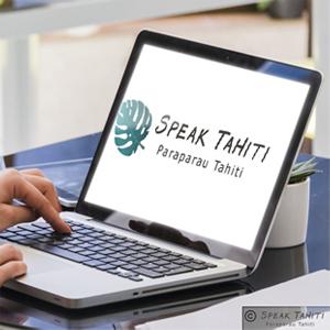 Mockup du logo Speak Tahiti Paraparau Tahiti