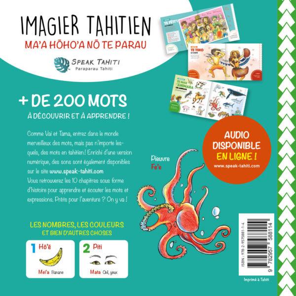 Quatrième de couverture du livre Imagier Tahitien